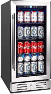 """Kalamera 15"""" Beverage Cooler 96 can Built-in"""