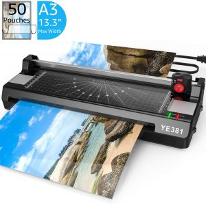 Laminator Machine for A3/A4/A6, YE381 Thermal Laminating Machine for Home Office School Use with 50 Pouches