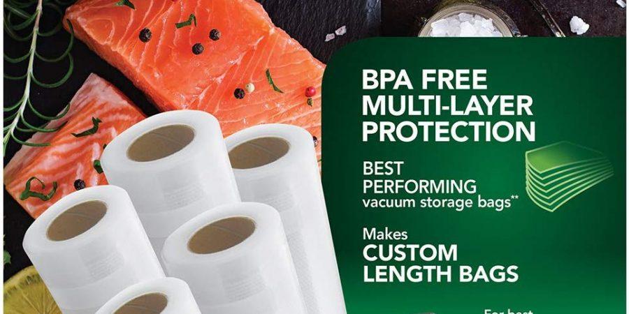"FoodSaver 8"" and 11"" Vacuum Seal Rolls Multipack | Make Custom-Sized"