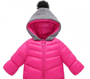 Aivtalk Winter Baby Boys Girl's One-Piece Cable Hood Down Snowsuit Jumpsuit