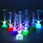 Apol Colorful Fiber Optic LED Rose Light,Changing Flash Light Set 10