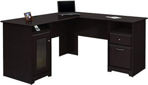 The Bush Furniture Cabot L Shaped Computer Desk is good for executive office and private office.