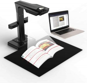 CZUR ET16 Plus doc cam is best for scanning book page and other documents, then transfer into your computer directly.