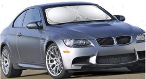 Car windshield sunshade by EcoNour, 59×31 inches]