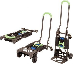 Cosco Shifter is a multi-position heavy duty stair hand truck which can help you lift up to 300lbs alone.