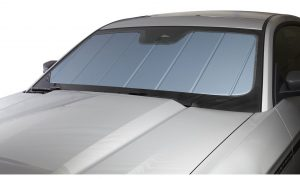 Covercraft Blue metallic UVS100 custom sunscreen