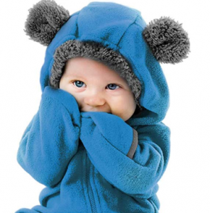 Cuddle Club Fleece Baby Bunting Bodysuit for Newborn