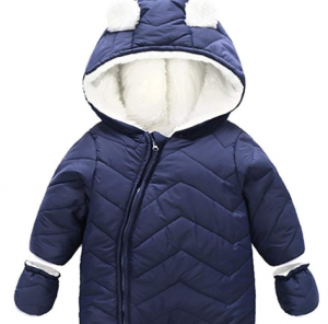 Ding-dong Baby Boy Girl Winter Hooded Puffer Jacket Snowsuit