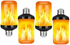 LED Flame Effect Fire Light Bulb - Upgraded 4 Modes