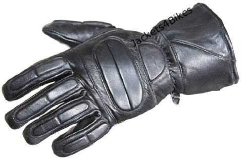 New Motorcycle Biker Premium Leather Thinsulate Full Gloves Black L