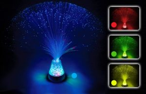 Playlearn Fiber Optic Light Lamp Color has 4 colors options for you to create a romantic moment in your house or bedroom or restaurant.