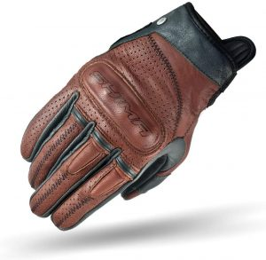 SHIMA Caliber Mens Vintage Leather Motorcycle Gloves - Brown