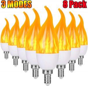 Severino E12 Flame Bulb LED Candelabra Light Bulbs