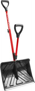 Snow Joe SJ-SHLV01-RED Shovelution Strain-Reducing Snow Shovel
