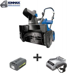 Snow Joe iON18SB 18-Inch 40 Volt Cordless Brushless Single Stage Snow Blower