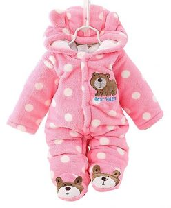 Snowsuit for Baby Girls Winter Thicken Rompers for 6 to 9 months old baby boy and girl.