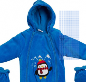 Sweet & Soft Baby Boys' Warm Pram Snowsuit with Hood
