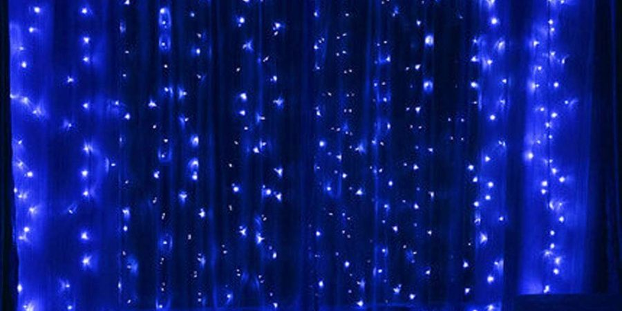Twinkle Star 300 LED Window Curtain String Light for Christmas Wedding