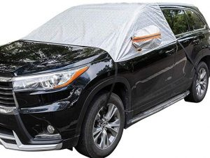 Universal fit windshield snow cover for cars by MARKSIGN