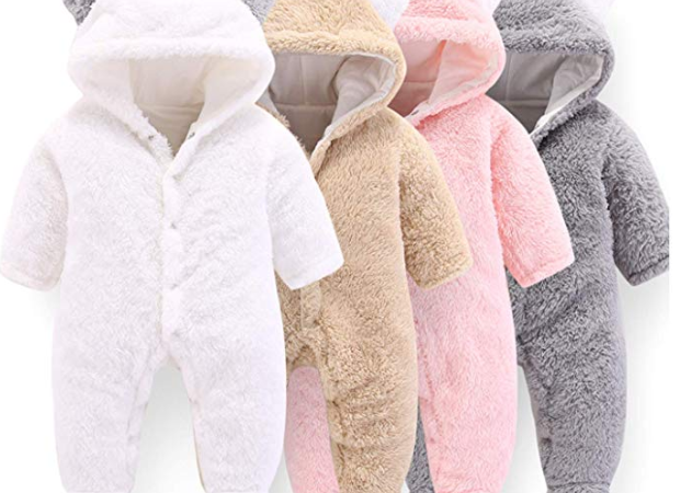 WESIDOM Newborn Baby Toddler Girls Boys Snowsuit Hooded Winter Romper Jumpsuit Coat