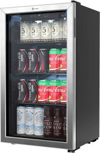 Vremi 120 Can Beverage Refrigerator - 3.2 Cubic Foot Capacity