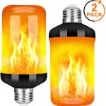 Y- STOP LED Flame Effect Fire Light Bulb - Upgraded 4 Modes Flickering Fire Christmas Decorations Lights
