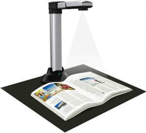 eloam Portable Book & Document Scanner, Auto Flatten, Split & Deskew, Convert Images