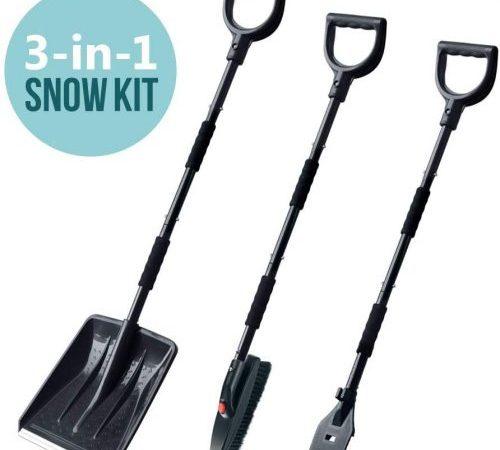 multi0fun Snow Brush Kit, 3-in-1 Snow Shovel