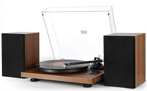 1byone Wireless Turntable is a Vinyl Record Player with Magnetic Cartridge