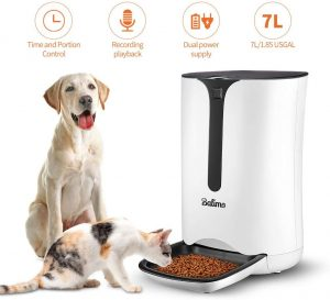 7L/1.85USGAL,Balimo Automatic Smart Pet Feeder for Cat and Dog,Food Dispenser