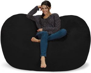 Chill Sack Bean Bag Chair: Huge 6' Memory Foam Furniture Bag and Large Lounger