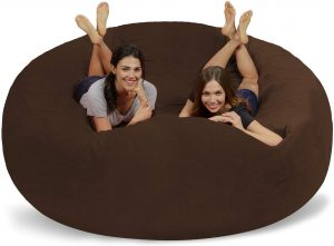 Chill Sack Bean Bag Chair: Giant 8' Memory Foam Furniture Bean Bag - Big Sofa