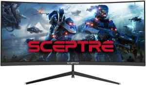 Sceptre Monitor 30-inch Curved Gaming Monitor has a screen size of 21:9 2560x1080p Ultrawide Ultra Slim for the slim screen lover.