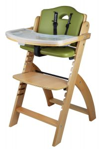 Abiie Beyond Wooden High Chair With Tray. The Perfect Adjustable Baby Highchair Solution