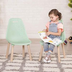 This is a toddler chair from B. spaces by Battat. It comes in two as a set for your children to read and do other activities.