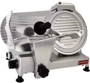 "BESWOOD 10"" Electric Deli Meat Cheese Food Slicer"
