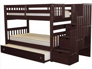 This twin bunk bed by BedZ is designed for dorm and hostel use.