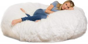 Comfy Sacks 6 ft Lounger Memory Foam Bean Bag Chair