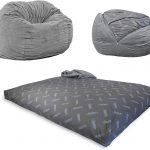 CordaRoy's Chenille Bean Bag Chair, Convertible Chair Folds from Bean Bag to Bed