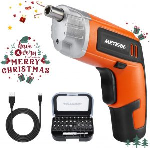 Cordless Electric Screwdriver Meterk Rechargeable Drill 3.6V 2000mAh MAX
