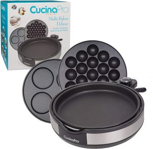 CucinaPro Multi Baker Deluxe- 3 Interchangeable Skillets for Grilling