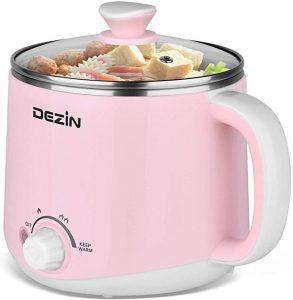 Dezin Electric Hot Pot, Rapid Noodle Cooker, Pink