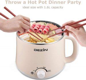 Dezin Electric Hot Pot Rapid Noodles Cooer, Beige
