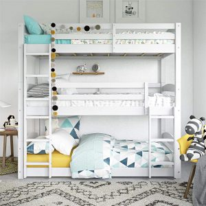 Dorel Living Phoenix Triple Floor Bunk Bed, White