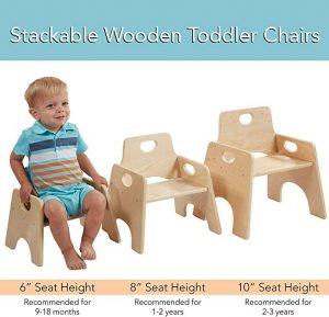 This Stackable Wood Toddler Chair is best for kid to study, drawing and doing any other activities.