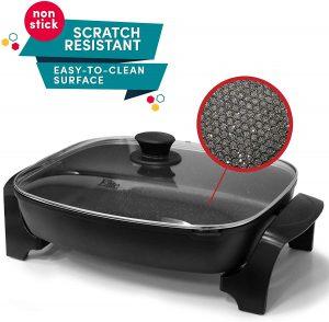 Elite Platinum EG-6203 Non-stick Deep Dish Heavy Duty Electric Skillet