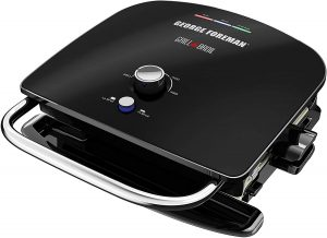 George Foreman GBR5750SBLQ Grill & Broil 7-in-1 Electric Indoor Grill