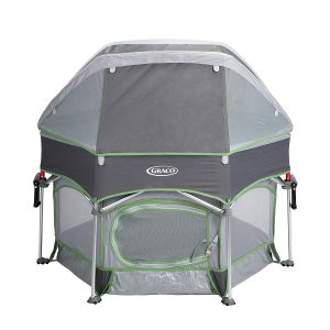 Graco Pack 'n Play Sport Outdoor Playard is a canopy to protect your baby from the mosquito or other harmful insects.