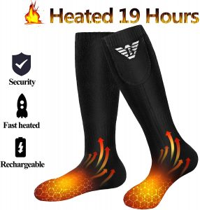 Heated Socks for Men Women - Electric Heating Socks, Battery Powered Socks Rechargeable