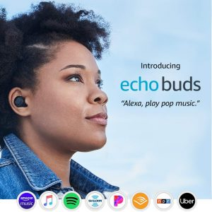 The Echo Buds is built to fit into your ears and work with Alexa.